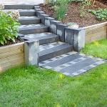 Terrasse mit Treppe aus Granit